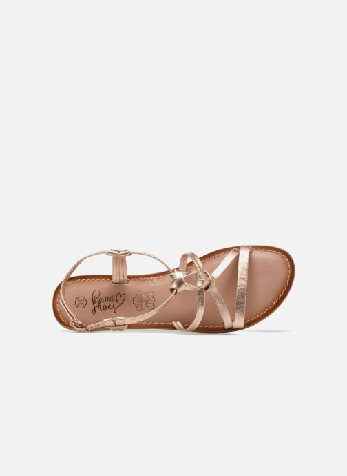 Sandals I Love Shoes Kenania Leather Bronze and Gold view from the left
