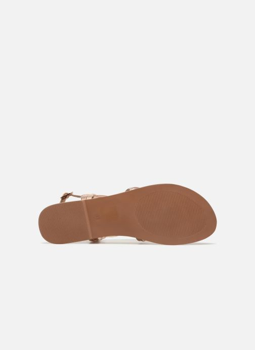 Sandali e scarpe aperte I Love Shoes Kenania Leather Oro e bronzo immagine dall'alto