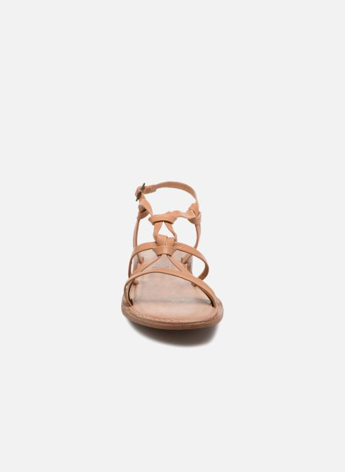 Sandals I Love Shoes Kenania Leather Brown model view