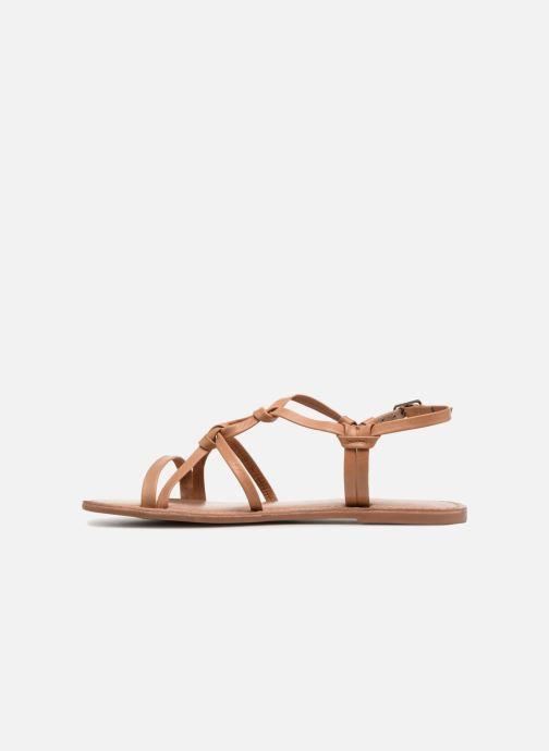 Sandals I Love Shoes Kenania Leather Brown front view