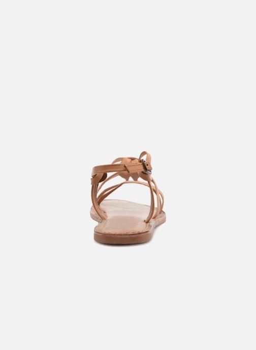 Sandales et nu-pieds I Love Shoes Kenania Leather Marron vue droite