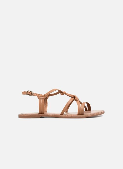 Sandals I Love Shoes Kenania Leather Brown back view