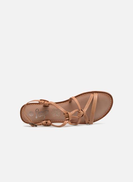 Sandalias I Love Shoes Kenania Leather Marrón vista lateral izquierda