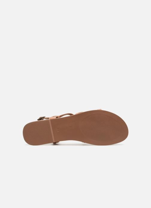 Sandals I Love Shoes Kenania Leather Brown view from above