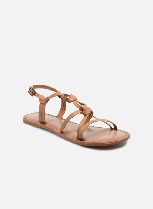 Sandals I Love Shoes Kenania Leather Brown detailed view/ Pair view