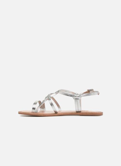 Sandalias I Love Shoes Kenania Leather Plateado vista de frente