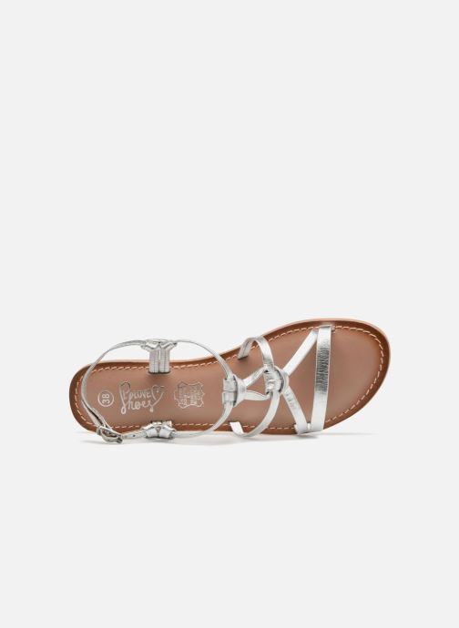 Sandales et nu-pieds I Love Shoes Kenania Leather Argent vue gauche