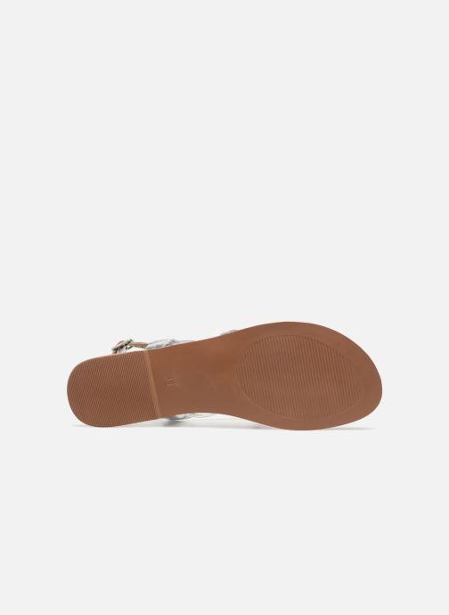 Sandales et nu-pieds I Love Shoes Kenania Leather Argent vue haut