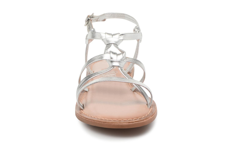 Sandales et nu-pieds I Love Shoes Kenania Leather Argent vue portées chaussures