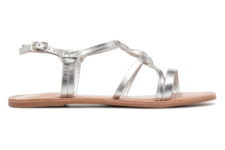 Sandales et nu-pieds I Love Shoes Kenania Leather Argent vue derrière