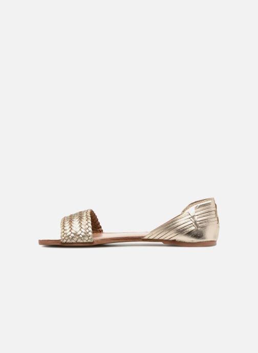 Sandales et nu-pieds I Love Shoes Kerina Leather Or et bronze vue face