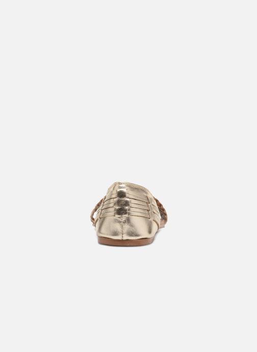 Sandales et nu-pieds I Love Shoes Kerina Leather Or et bronze vue droite