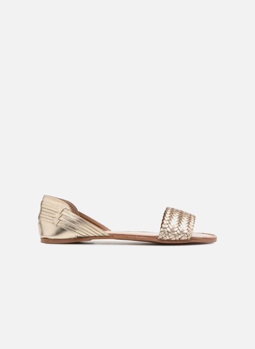 Sandals I Love Shoes Kerina Leather Bronze and Gold back view