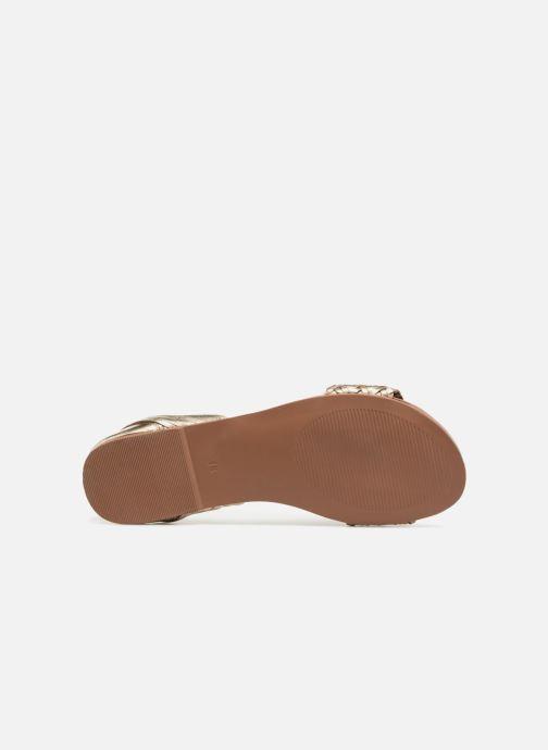 Sandales et nu-pieds I Love Shoes Kerina Leather Or et bronze vue haut