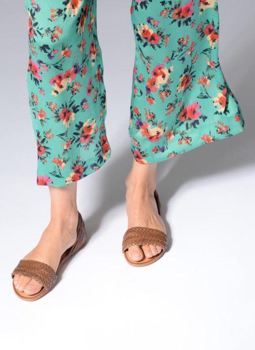 Sandales et nu-pieds I Love Shoes Kerina Leather Marron vue bas / vue portée sac