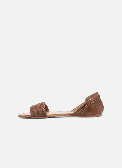 Sandals I Love Shoes Kerina Leather Brown front view