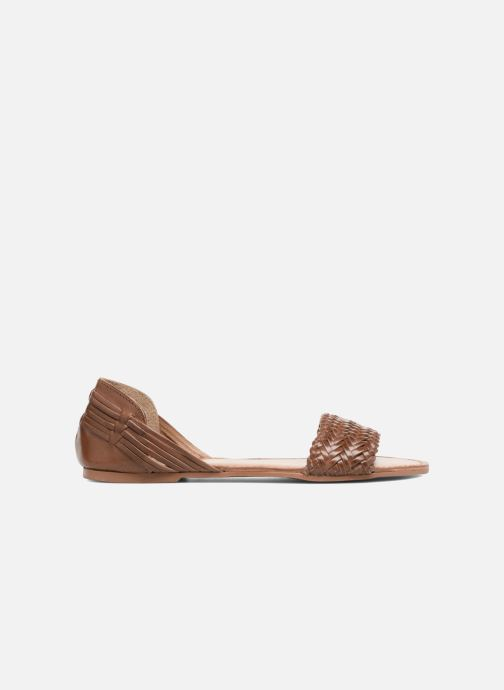 Sandals I Love Shoes Kerina Leather Brown back view