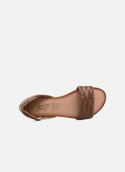 Sandalen I Love Shoes Kerina Leather Bruin links
