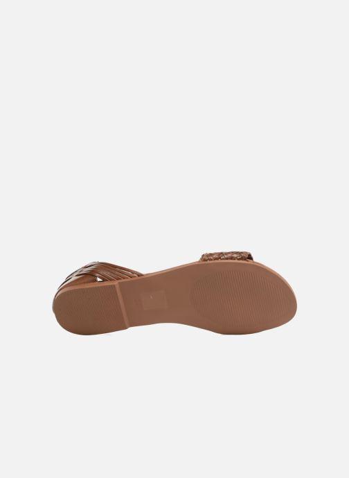 Sandales et nu-pieds I Love Shoes Kerina Leather Marron vue haut