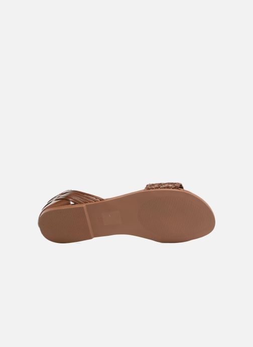 Sandals I Love Shoes Kerina Leather Brown view from above