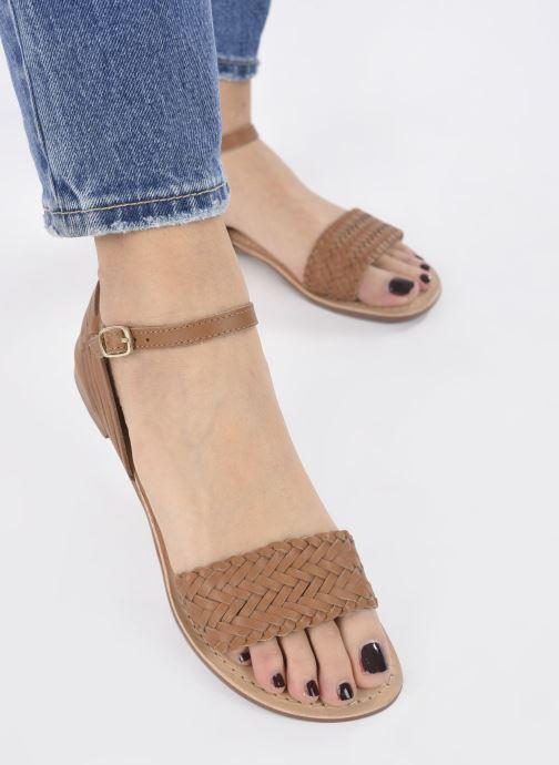 Sandali e scarpe aperte I Love Shoes Kerina Leather Marrone immagine dal basso