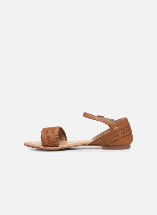 Sandales et nu-pieds I Love Shoes Kerina Leather Marron vue face