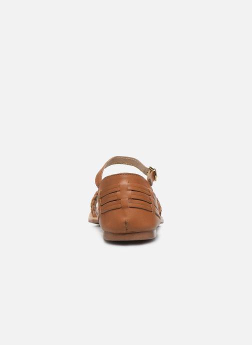 Sandalias I Love Shoes Kerina Leather Marrón vista lateral derecha