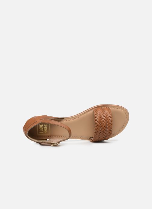 Sandalias I Love Shoes Kerina Leather Marrón vista lateral izquierda