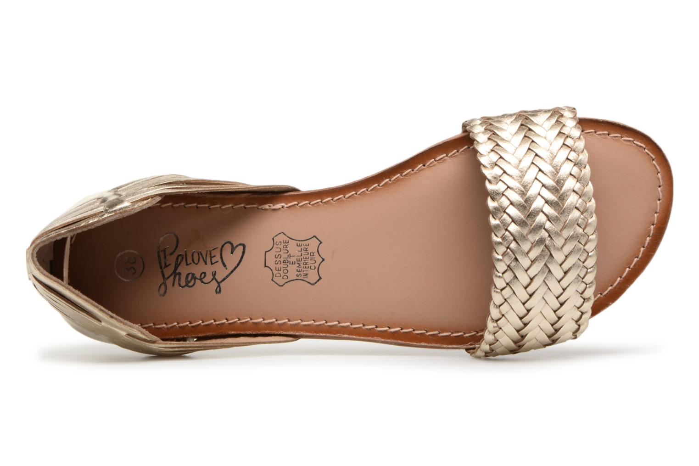 Sandalen I Love Shoes Kerina Leather gold/bronze ansicht von links