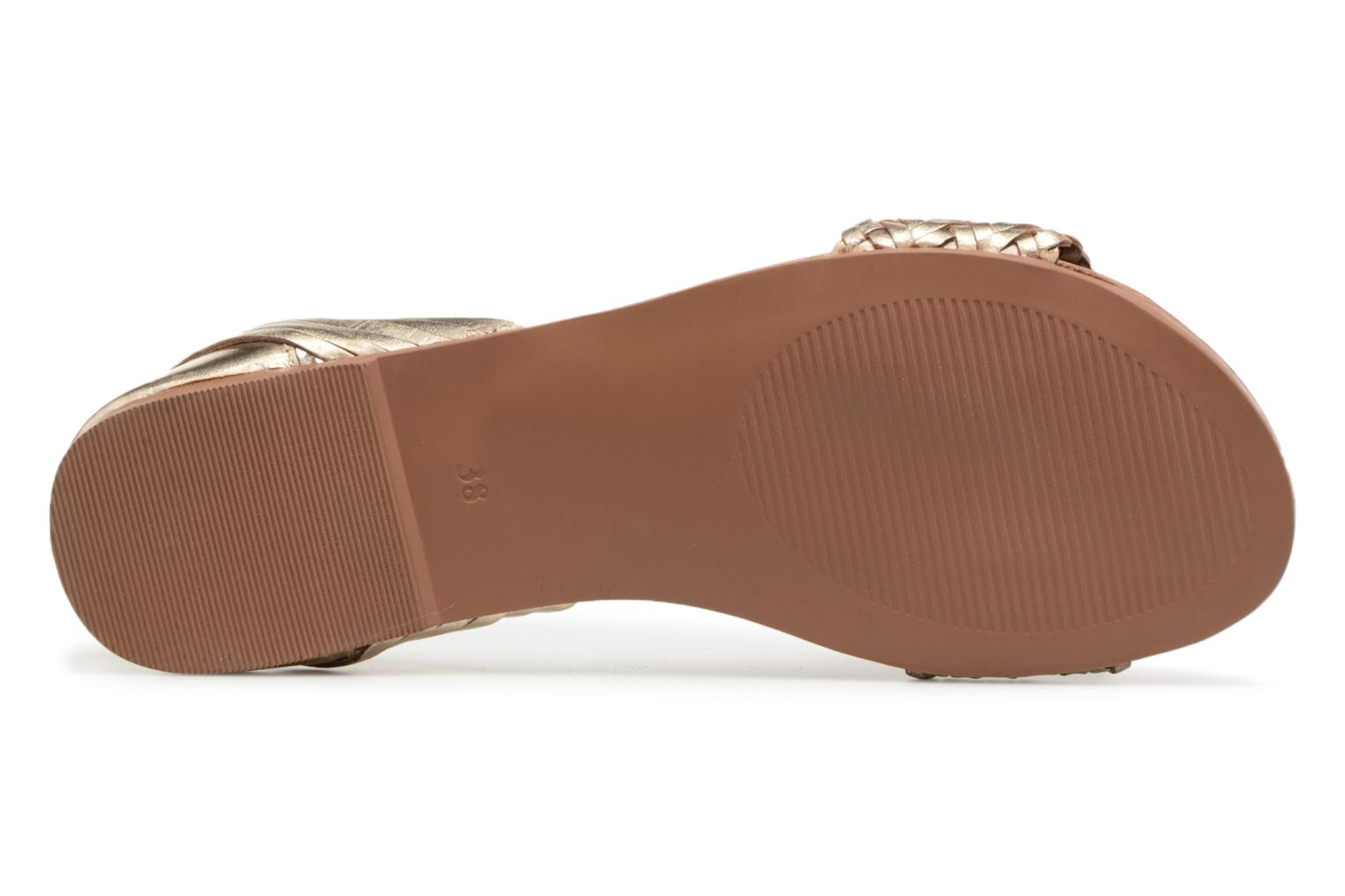 Sandales et nu-pieds I Love Shoes Kerina Leather Or et bronze vue haut