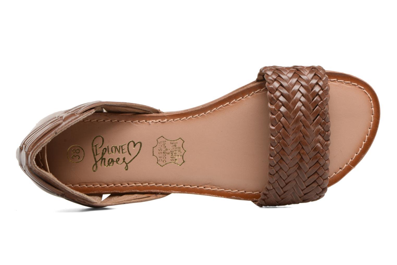 Sandales et nu-pieds I Love Shoes Kerina Leather Marron vue gauche