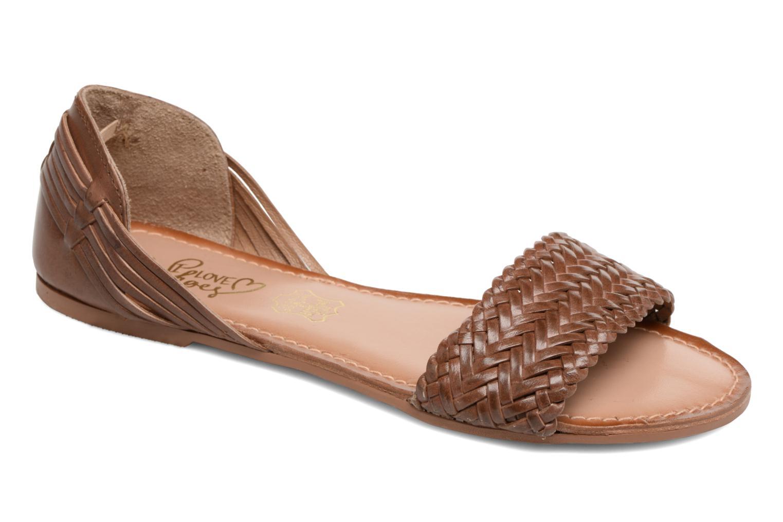 Sandalen I Love Shoes Kerina Leather braun detaillierte ansicht/modell