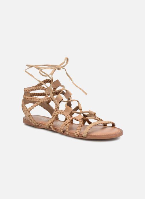 Nu Supergli Chez Sandales marron Love Leather pieds I Shoes Et gSPFwq
