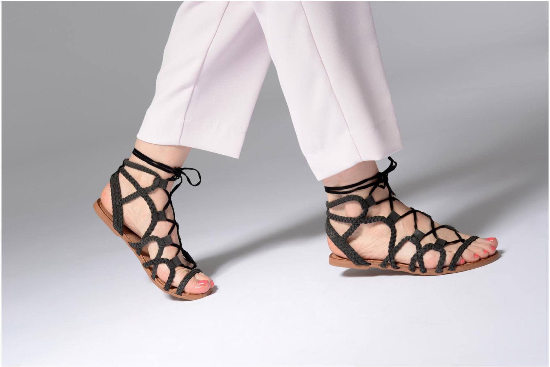 Sandales et nu-pieds I Love Shoes Supergli Leather Noir vue bas / vue portée sac