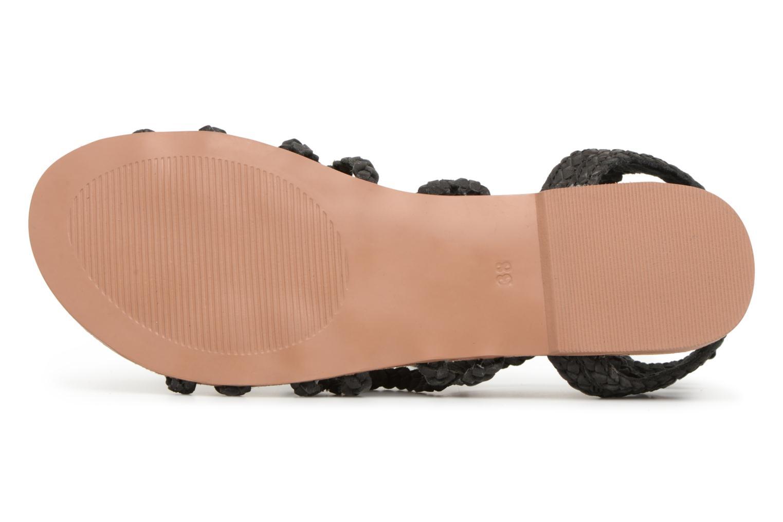 Sandales et nu-pieds I Love Shoes Supergli Leather Noir vue haut