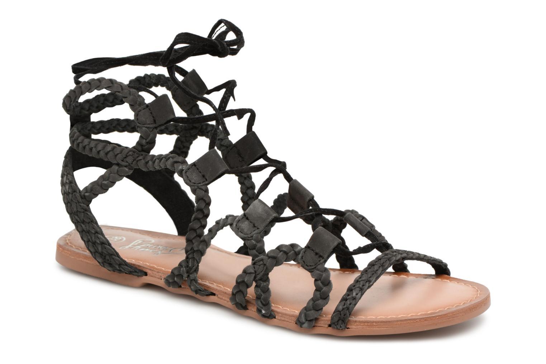 Sandales et nu-pieds I Love Shoes Supergli Leather Noir vue détail/paire