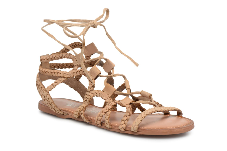1e2f913c0604 Sandales et nu-pieds I Love Shoes Supergli Leather Marron vue détail paire