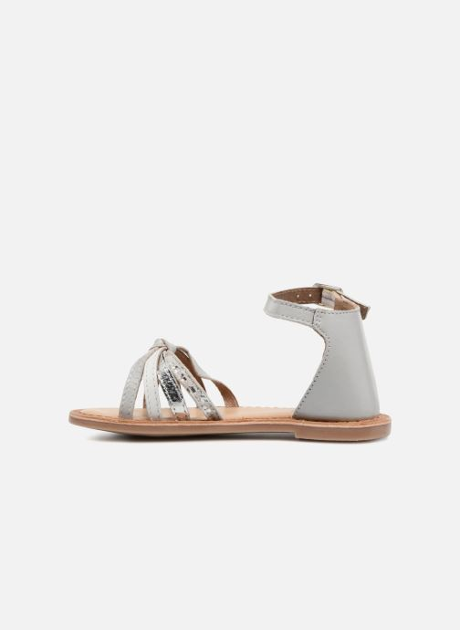 Sandals I Love Shoes Kechipy Leather Silver front view