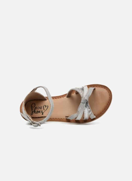 Sandals I Love Shoes Kechipy Leather Silver view from the left