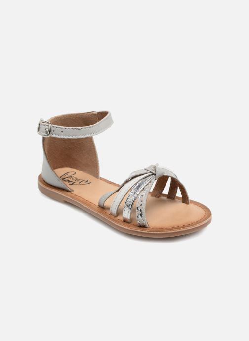 Sandals I Love Shoes Kechipy Leather Silver detailed view/ Pair view