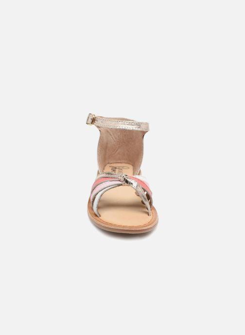 Sandali e scarpe aperte I Love Shoes Kechipy Leather Rosa modello indossato