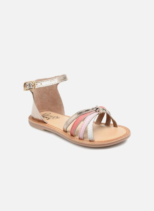 Sandals I Love Shoes Kechipy Leather Pink detailed view/ Pair view