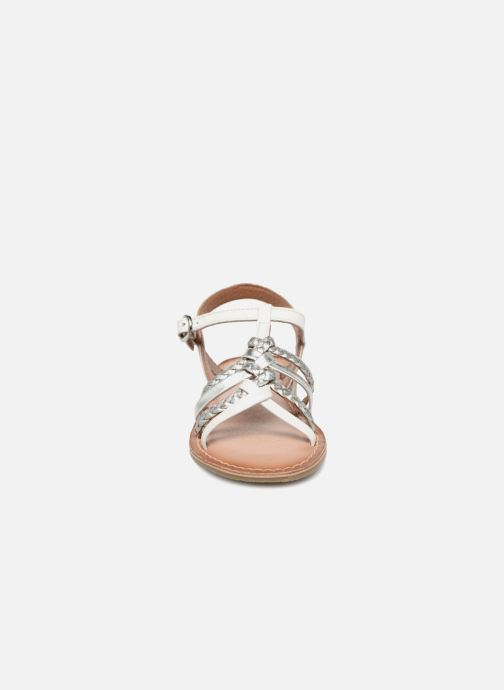 Sandals I Love Shoes Keliana Leather White model view