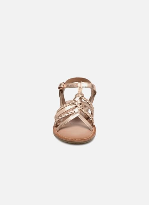 Sandals I Love Shoes Keliana Leather Bronze and Gold model view