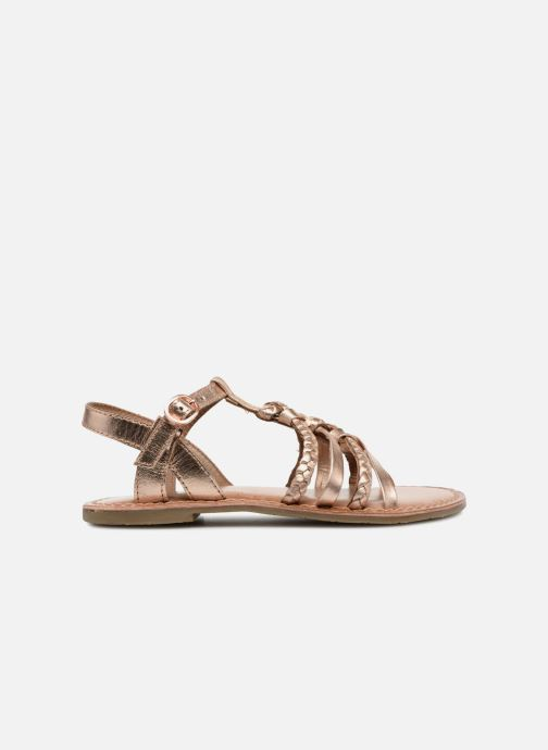 Sandals I Love Shoes Keliana Leather Bronze and Gold back view