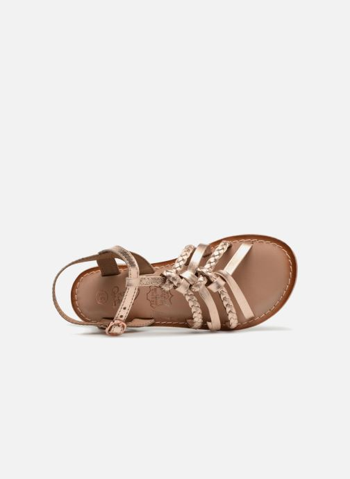 Sandals I Love Shoes Keliana Leather Bronze and Gold view from the left