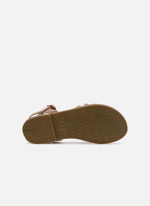 Sandales et nu-pieds I Love Shoes Keliana Leather Or et bronze vue haut