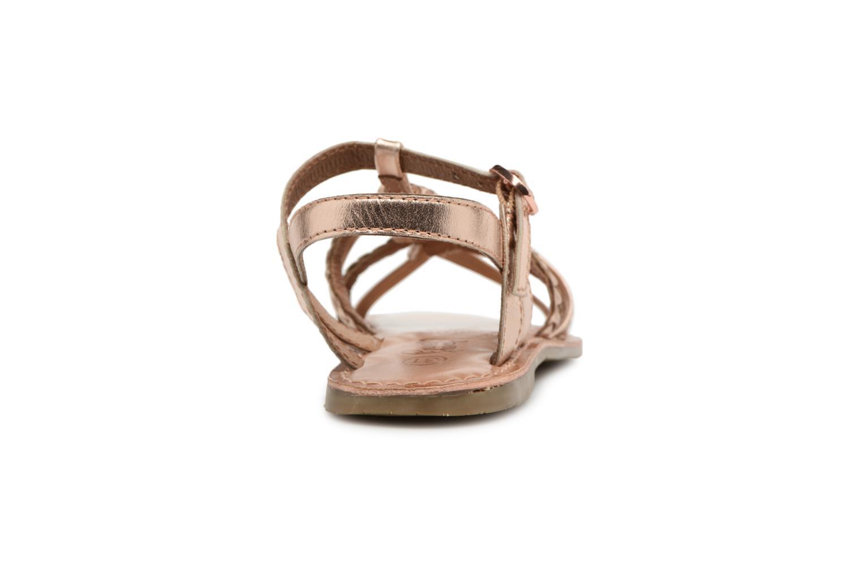 Sandaler I Love Shoes Keliana Leather Bronze och Guld Bild från höger sidan