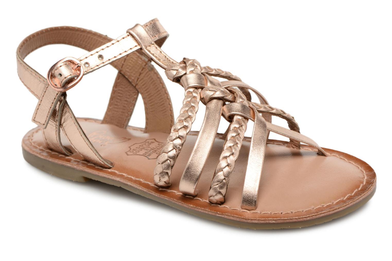 Sandaler I Love Shoes Keliana Leather Bronze och Guld detaljerad bild på paret