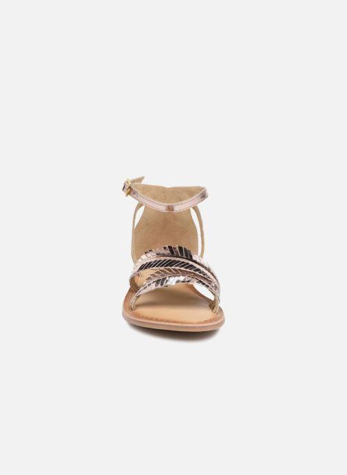 Sandales et nu-pieds I Love Shoes Kefeuille Leather Or et bronze vue portées chaussures